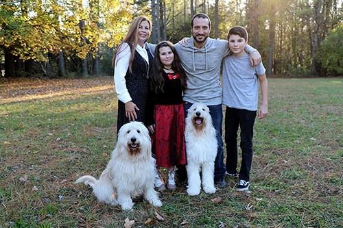 Euro GoldenDoodles owners and family, The Hamkas